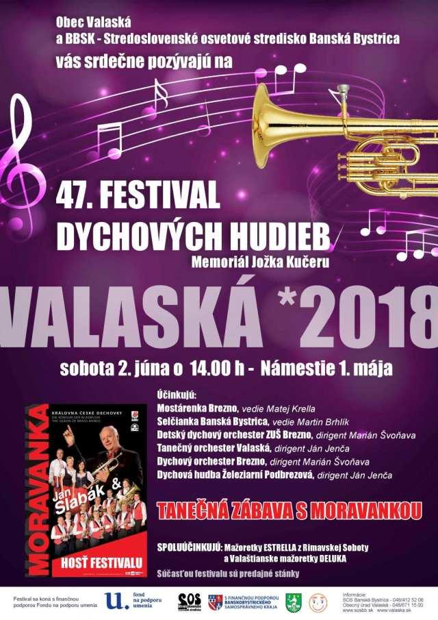 2.6.2018 Festival dychových hudieb, Valaská