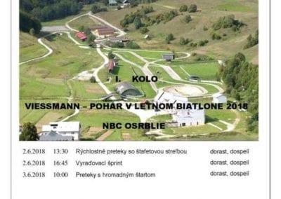 2. – 3.6.2018 VIESMANN – POHÁR V LETNOM BIATLONE, Osrblie