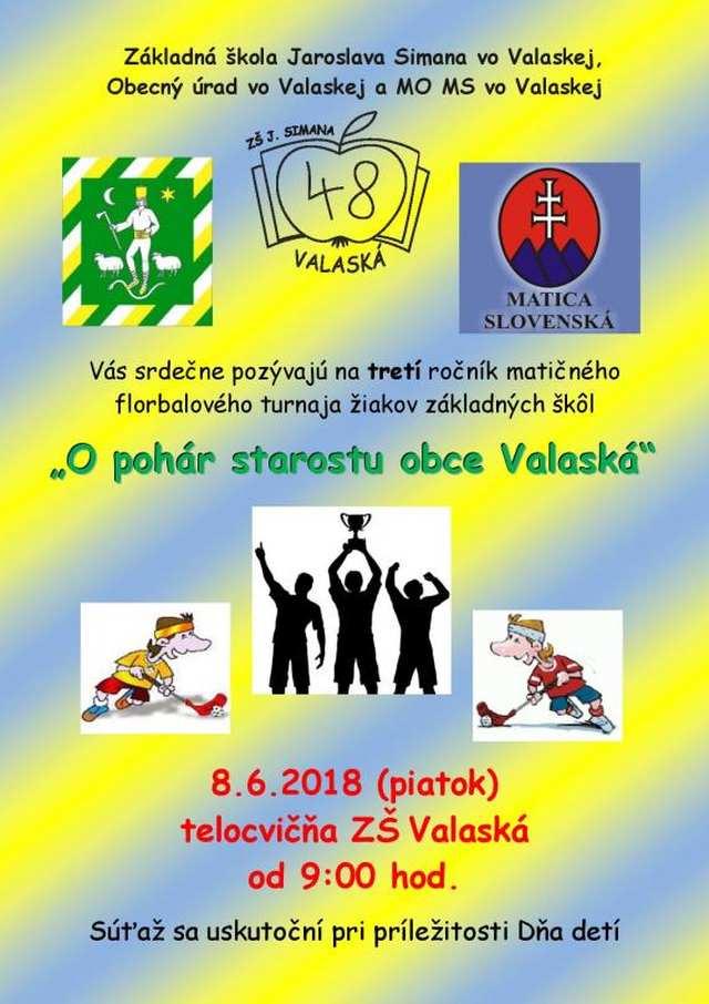 8.6.2018 FLORBALOVÝ TURNAJ, Valaská