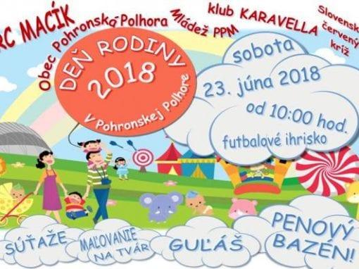 23.6.2018 Deň rodiny, Pohronská Polhora