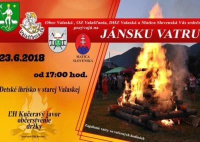 23.6.2018 – Jánska vatra, Valaská