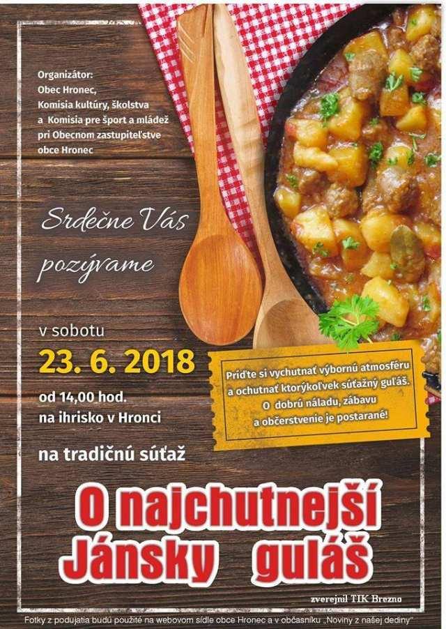 23. jún 2018 – Jánsky guľáš, Hronec