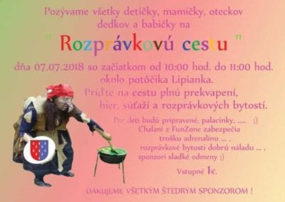 7. 7. 2018 – ROZPRÁVKOVÁ CESTA, Pohronská Polhora
