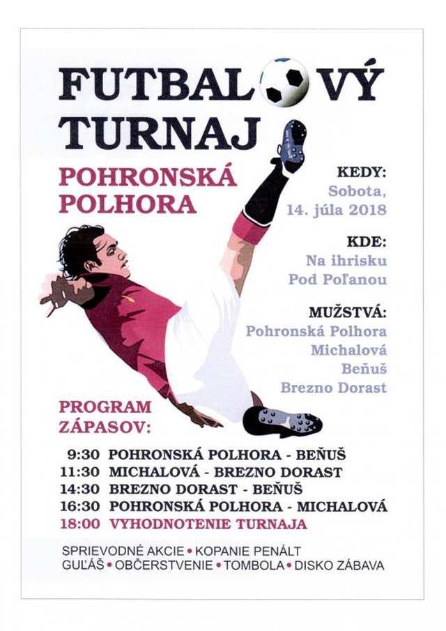 14.7.2018 FUTBALOVÝ TURNAJ, Pohronská Polhora