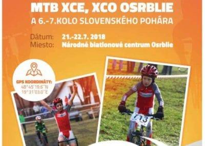 21. – 22. 7. 2018 – MAJSTROVSTVÁ SLOVENSKA MTB XCE, XCO – Osrblie