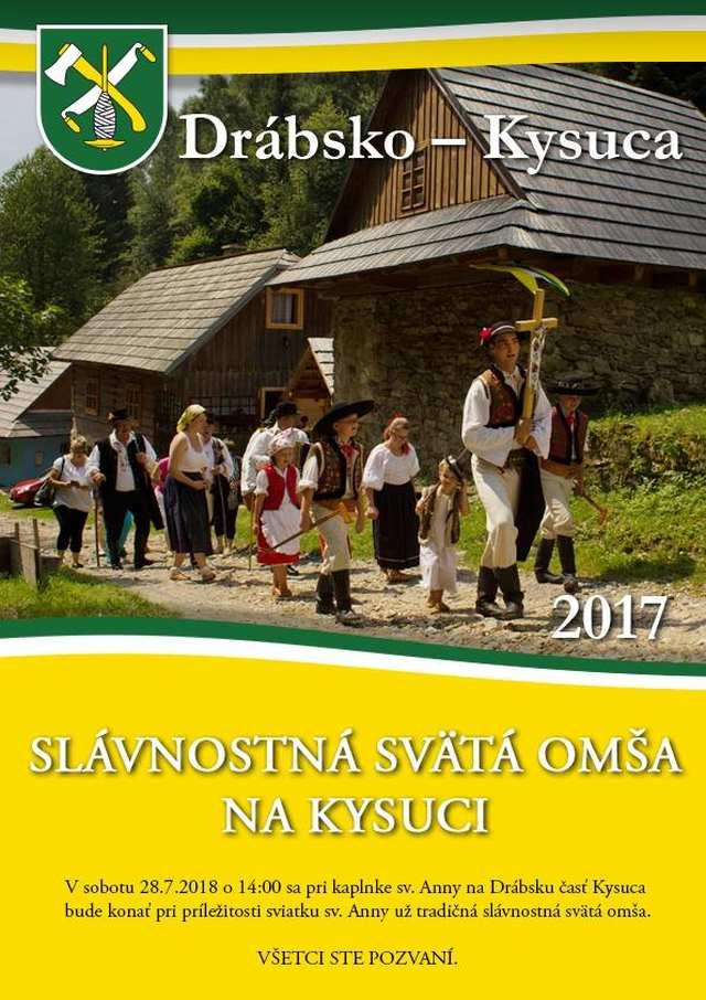 28. 7. 2018 – SLÁVNOSTNÁ OMŠA NA KYSUCI, Drábsko