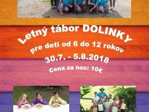 30. 7. – 5. 8. 2018 – LETNÝ TÁBOR DOLINKY, Tisovec
