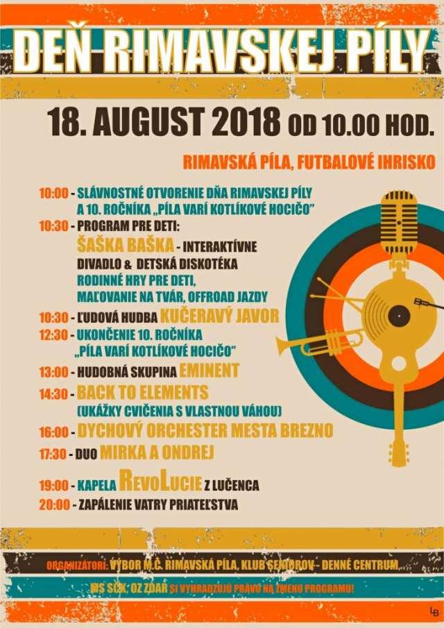 18. 8. 2018 – DEŇ RIMAVSKEJ PÍLY, Tisovec