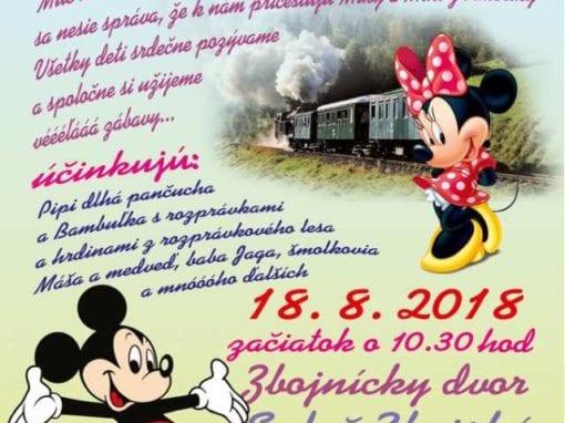 18.8.2018 – PARNOU ZUBAČKOU DO ROZPRÁVKY, Zbojská