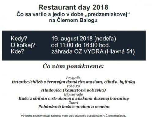 19.8.2018 – Restaurant day, Čierny Balog