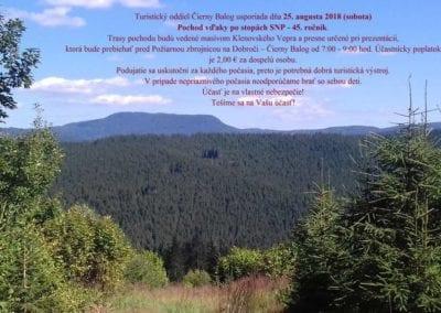 25. 8 2018 – POCHOD VĎAKY PO STOPÁCH SNP, Čierny Balog