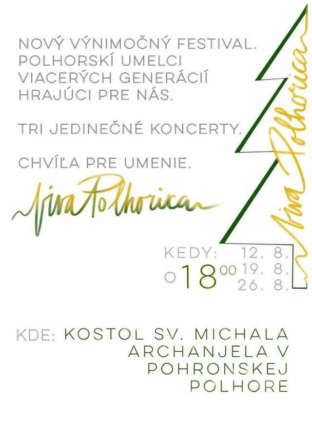 12/19/26. 8. 2018 – FESTIVAL VIVA POLHORICA, Pohronská Polhora