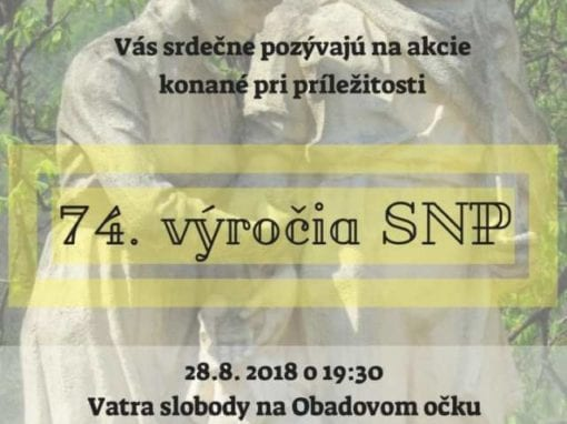 28.8.2018/3.9.2018 – 74. výročia SNP, Tisovec