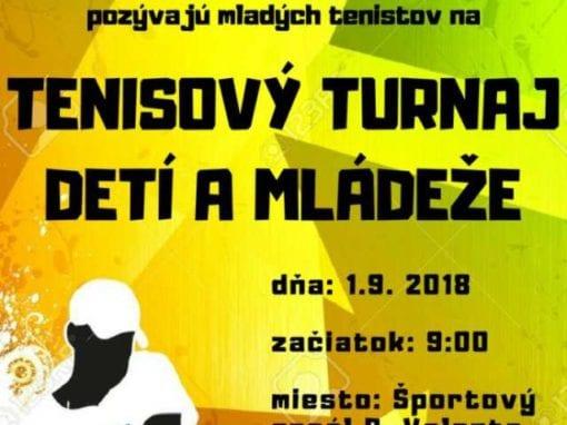 1.9.2018 – TENISOVÝ TURNAJ MLÁDEŽE, Tisovec