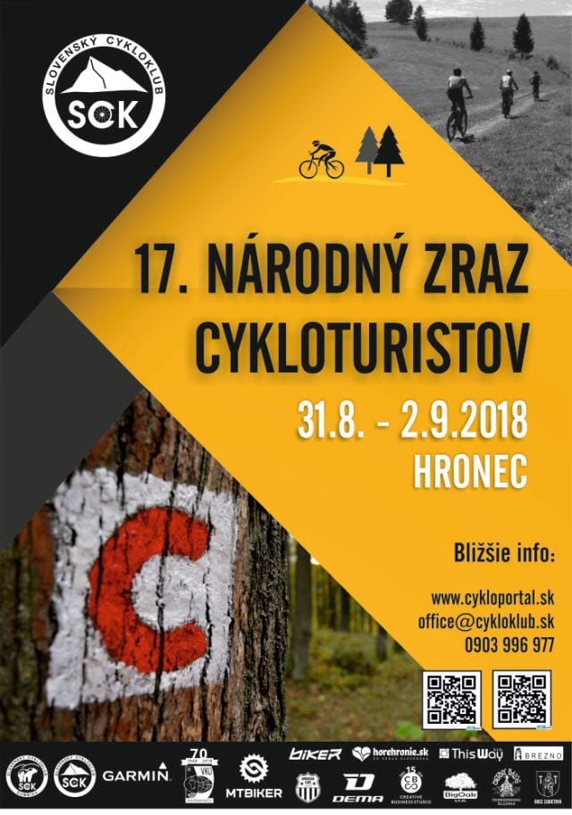 31.8.-2.9.2018 – 17. NÁRODNÝ ZRAZ CYKLOTURISTOV, Hronec