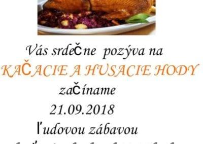 21.9.2018 – KAČACIE A HUSACIE HODY, Tisovec – Kôlnička