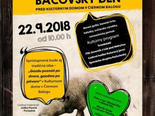 22.9.2018 – BALOCKÝ BAČOVSKÝ DEŇ, Čierny Balog