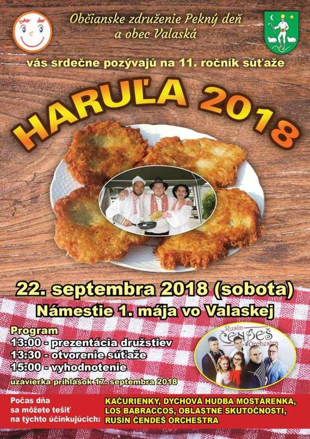 22.9.2018 – HARUĽA 2018, Valaská