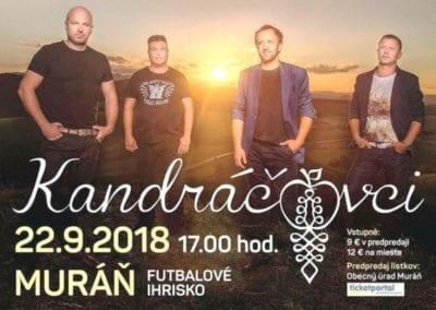 22.9.2018 KANDRÁČOVCI, Muráň