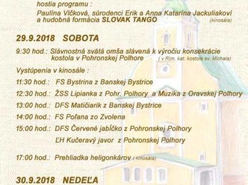 28. – 30. 2018 MICHALSKÉ HODY, Pohronská Polhora