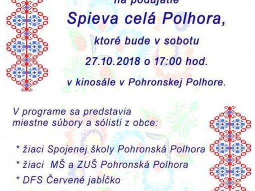 27.10.2018 – SPIEVA CELÁ POLHORA, Pohronská Polhora