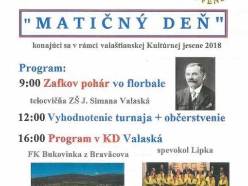 18.11.2018 MATIČNÝ DEŇ, Valaská