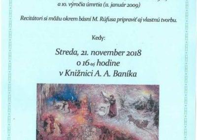 21.11.2018 Stretnutie s poéziou, Valaská