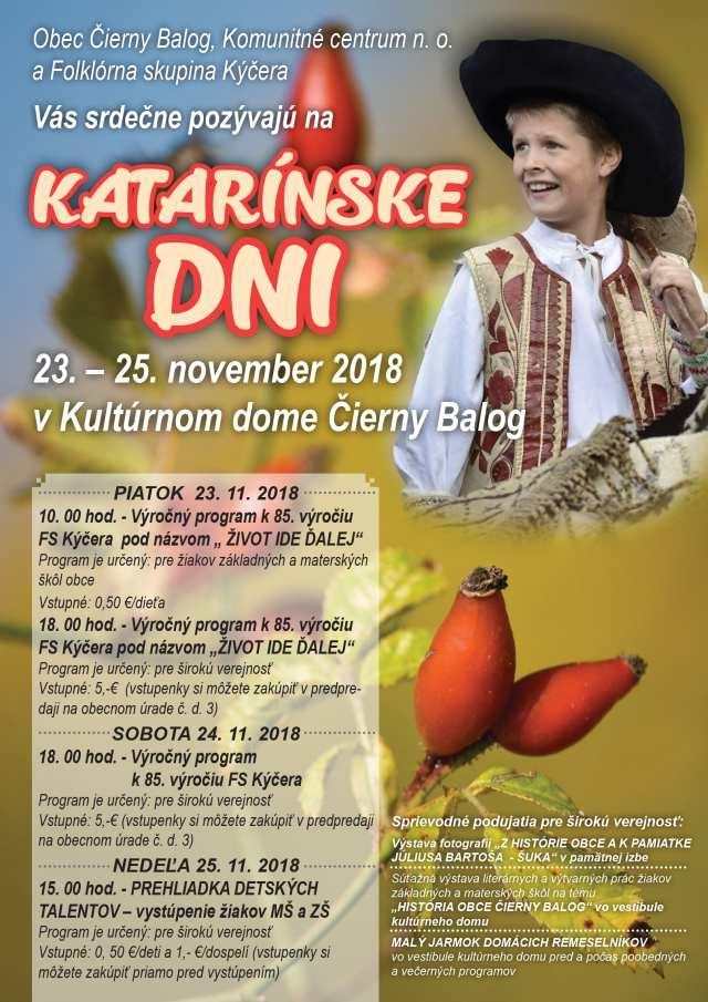 23.-25.11.2018 KATARÍNSKE DNI, Čierny Balog