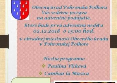 2.12.2018 ADVENTNÉ PODUJATIE, Pohronská Polhora