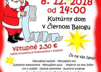 8.12.2018 MIKULÁŠSKE POPOLUDNIE, Čierny Balog