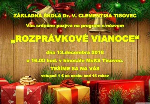 13.12.2018 ROZPRÁVKOVÉ VIANOCE, Tisovec