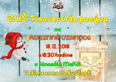 18.12.2018 – RODINNÉ VIANOCE, Tisovec