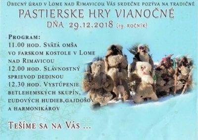 29.12.2018 PASTIERSKE HRY VIANOČNÉ, Lom nad Rimavicou