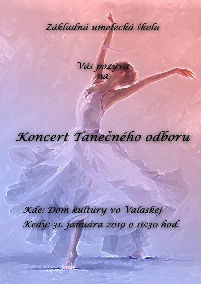 31.1.2019 KONCERT TANEČNÉHO ODBORU, Valaská