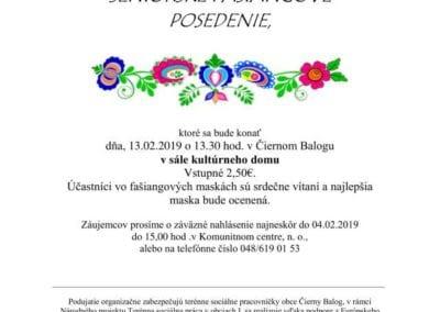 13. 2. 2019 – FAŠIANGOVÉ POSEDENIE, Čierny Balog
