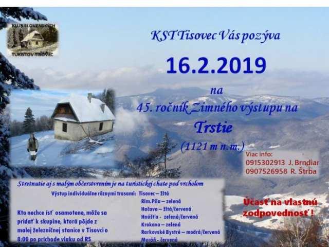 16. 2. 2019 – 45. ROČNÍK ZIMNÉHO VÝSTUPU NA TRSTIE, Tisovec