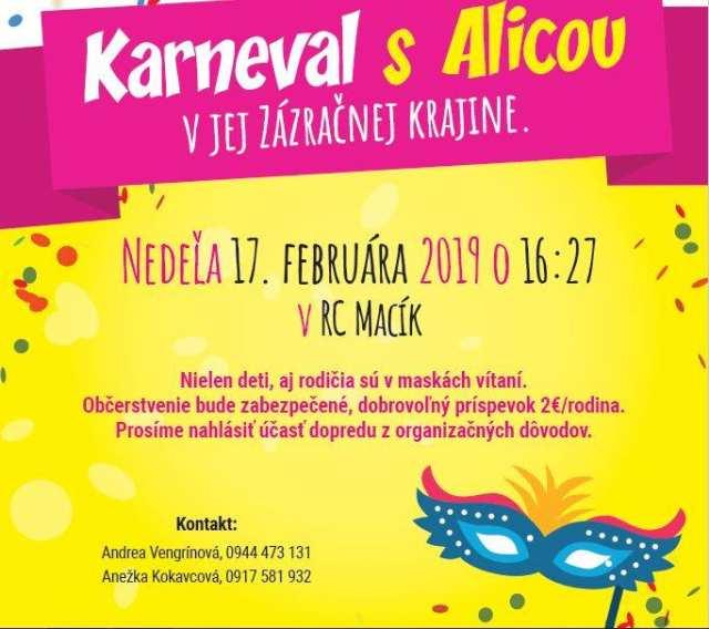 17. 2. 2019 KARNEVAL S ALICOU, Pohronská Polhora