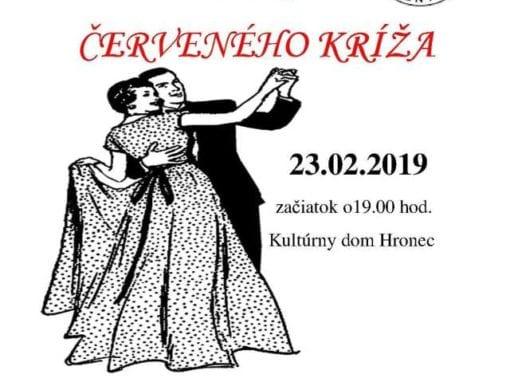 23. 2. 2019 PLES ČERVENÉHO KRÍŽA, Hronec