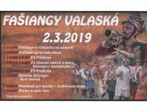 2. 3. 2019 – FAŠIANGY, Valaská