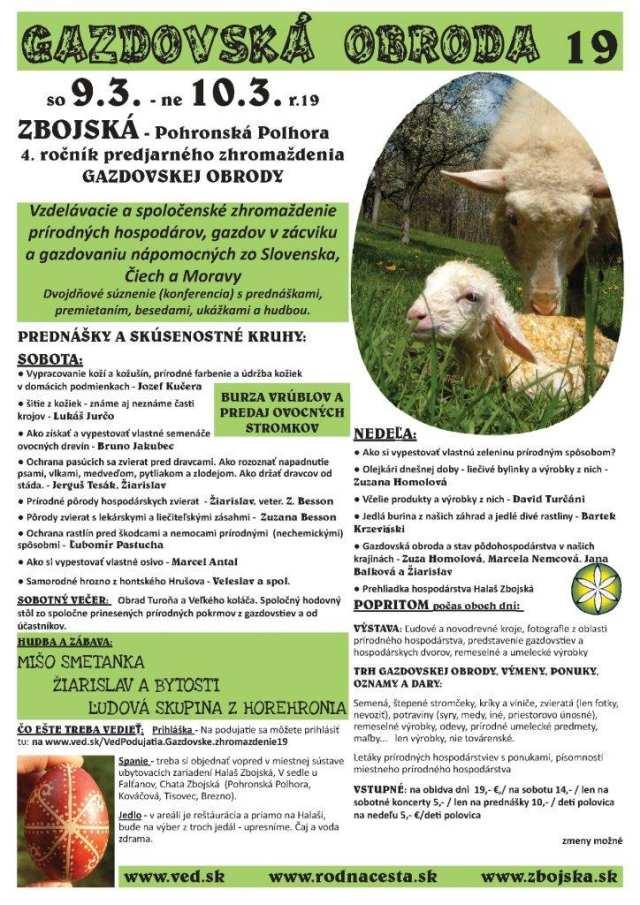 9. – 10. 3. 2019 – GAZDOVSKÁ OBRODA, Zbojská – Pohroská Polhora
