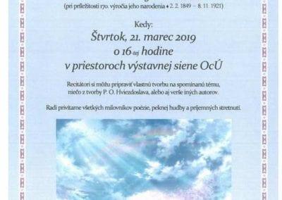 21. 3. 2019 STRETNUTIE S POÉZIOU, Valaská