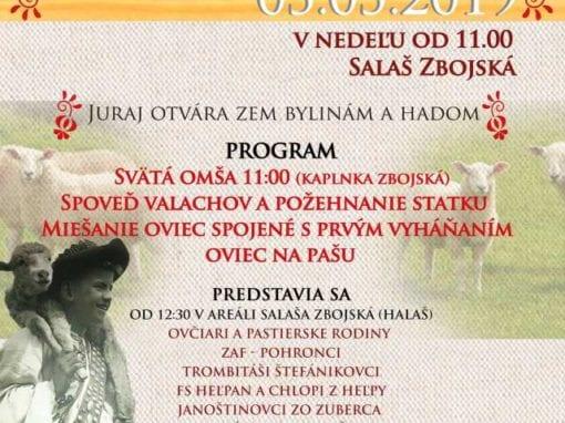 5.5.2019 DEŇ VALASKEJ KULTÚRY A SVIATOK OVČIARSKY, Zbojská