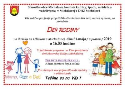 31.5.2019 DEŇ RODINY, Michalová