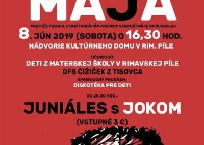 8.6.2019 Stavanie mája, Rimavská Píla