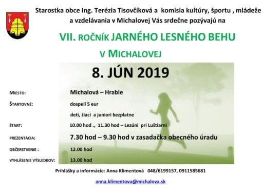8.6.2019 VII. ROČNÍK JARNÉHO LESNÉHO BEHU, Michalová