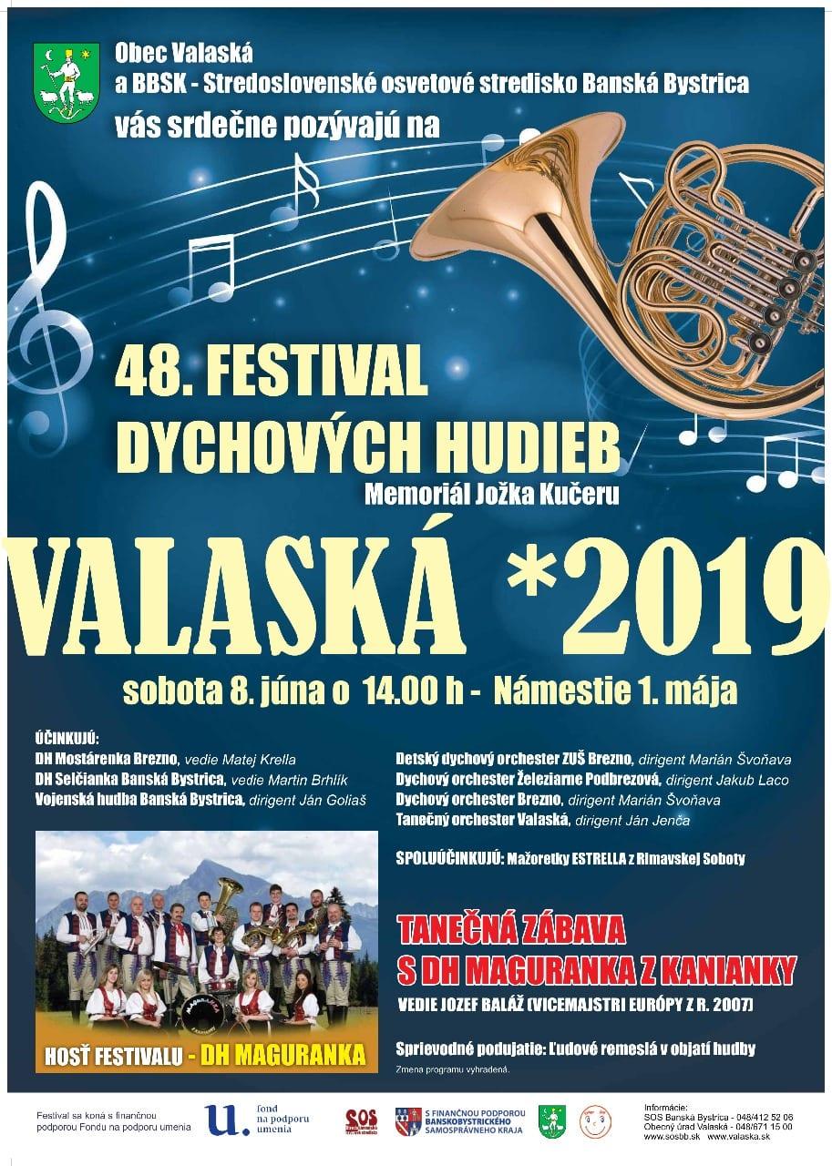 8.6.2019 FESTIVAL DYCHOVÝCH HUDIEB, Valaská
