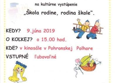 9.6.2019 ŠKOLA RODINE, RODINA ŠKOLE, Pohronská Polhora