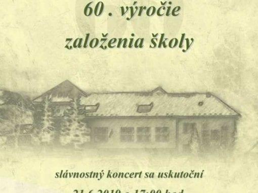 21.6.2019 – 60. výročie založenia školy, Valaská