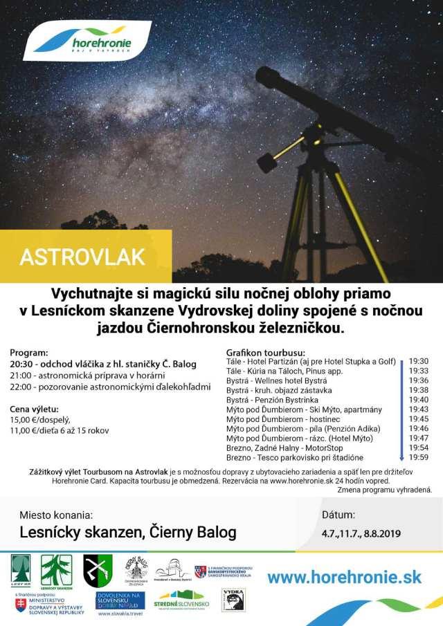 4.7., 11.7.,8.8.2019 ASTROVLAK, Čierny Balog