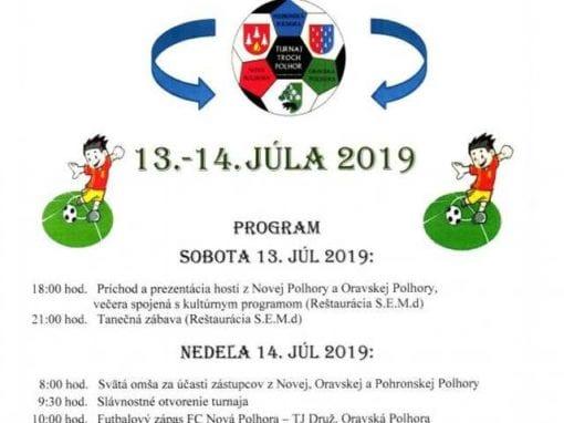 13.-14.7.2019 Turnaj 3 Polhor, Pohronská Polhora